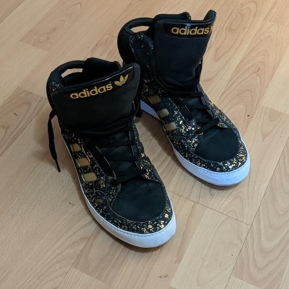 Gold Adidas High Tops Shoes | Poshmark